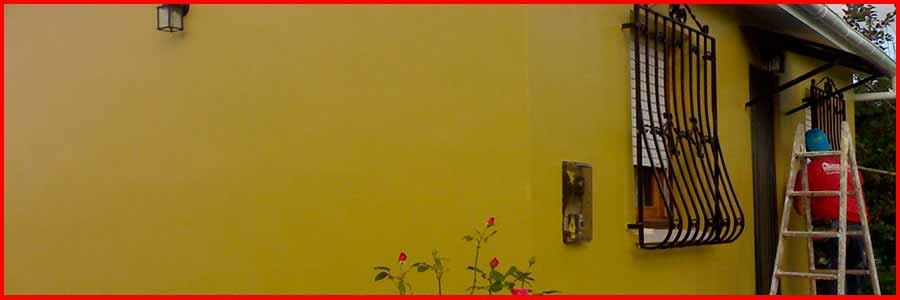 enlucido de paredes exteriores